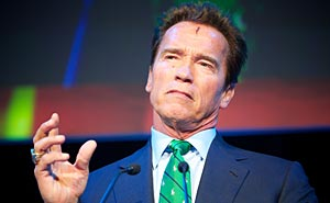 Arnold Schwarzenegger under Zerokonferansen i november 2011. Foto: Eirik Helland Urke/Zero Emission Resource Organisation/flickr (CC BY 2.0)